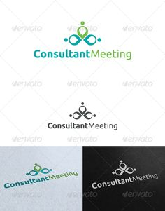 Consultant Meeting Logo Template by mia3d Re sizable VectorEPSand Ai Color customizable Fully editable Free font used: http://www.fontsquirrel.com/fonts/ubuntu