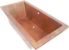 drop-in copper bathtub