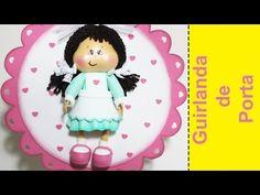 Artesanato EVA - Guirlanda Enfeite de Porta em EVA - YouTube