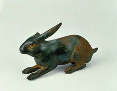 Crouching hare (619) Crouching hare. Roman Empire. c. AD 1-200. Bronze. h. 8.6 cm. Acquired 1975. Robert and Lisa Sainsbury Collection. UEA 619