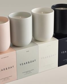 the infinite candle from year and a day. lovely brand that makes beautiful, classic pieces for kitchens and living spaces. Candle Branding, Candle Packaging, Candle Labels, Jar Labels, Packaging Ideas, Homemade Candles, Diy Candles, Scented Candles, Yankee Candles