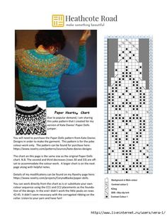 HCR.PaperHearts.chart.018.1_1 (540x700, 237Kb) Cable Knitting, Fair Isle Knitting, Sweater Knitting Patterns, Knitting Charts, Knitting Designs, Knitting Stitches, Knitting Yarn, Knit Patterns, Hand Knitting