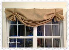 Tutorial: How to Make a No-Sew DIY Burlap Window Valances http://www.11magnolialane.com/2013/08/30/tutorial-how-to-make-a-no-sew-diy-burlap-window-valance/