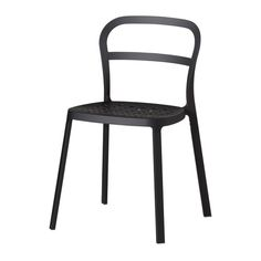 REIDAR Chair   Black   IKEA Aluminum And Stackable Dining Chair In Black,  White, And Yellow.