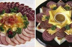 Идеи подачи мясной нарезки Food Decoration, Food Presentation, Food Design, Food Art, Catering, Sushi, Meal Prep, Panna Cotta, Waffles