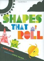 Shapes That Roll - a great book to help pre-schoolers learn all about shapes! We then made some easy and cute Monster Shape cards!