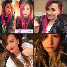 Demi Lovato bottom half shaved can still look normal.