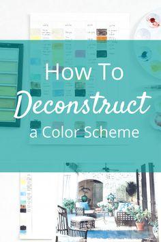 How to Deconstruct a Color Scheme