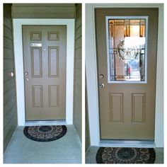 Beau For This Front Door, Zabitat Added Elegant Star By ODL Into A 6 Panel  Fiberglass