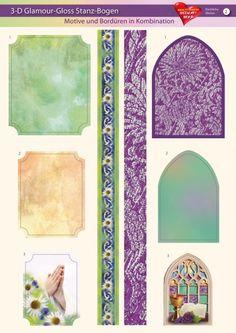 3-D GlamourGloss Bogen, kirchliche Motive, Din A4, Motiv 2
