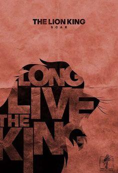 """Affiche du Roi Lion, Scar """"Longue vie au roi"""""""