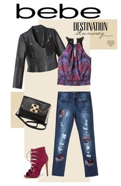 Destination Runway with Bebe : Contest Entry by boglarka-pinkeova on Polyvore featuring Bebe and beiconic