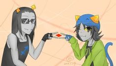 Nepeta and Equius by salihombox on DeviantArt