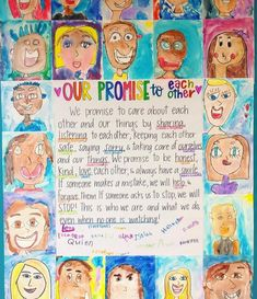 Classroom promise - We have completed one of my favorite lessons of the year! My students worked so hard to come up with this class promise We will refer to… Classroom Promise, Year 4 Classroom, 2nd Grade Classroom, Classroom Community, Classroom Rules Display, Class Rules Display Ks2, Our Class Display, Classroom Organisation Primary, Primary Classroom Displays