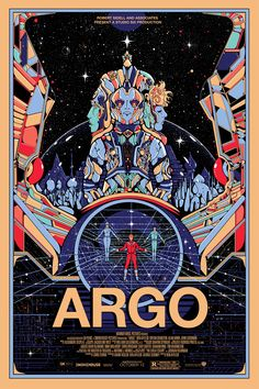 During the Oscars Academy Awards last night Mondo released posters for some of the nominated films in collaboration with the film studios. I was commissioned to do the one for Argo. The poster is for the made up Sci-fi film in the film. Argo was...