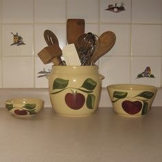 Watt Pottery....the middle piece was my grandmother's.  Would love to collect more!