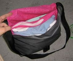 TUTORIAL: messenger bag with zippered divider (many pics)