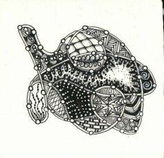 Galapagos Zentangle, created by C. Bishop, CZT