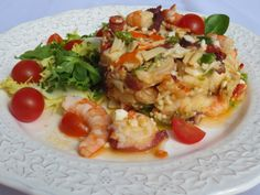 Salpicón de marisco Ana Sevilla con Thermomix Spanish Food, Fish And Seafood, Pasta Salad, Risotto, Potato Salad, Salad Recipes, Food To Make, Favorite Recipes, Diet