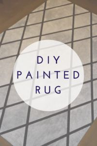A DIY painted area rug is not only cost-effective, but it adds style to an old dated area rug with just 4 hours and in supplies. Learn how to easily paint an area rug to match any decor. Cool Diy Projects, Home Projects, Handmade Home Decor, Diy Home Decor, Door Rugs, Fun Arts And Crafts, Diy Crafts, Painted Rug, Outdoor Carpet