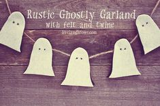 Halloween Garland | Rustic and Ghostly - livelaughrowe.com