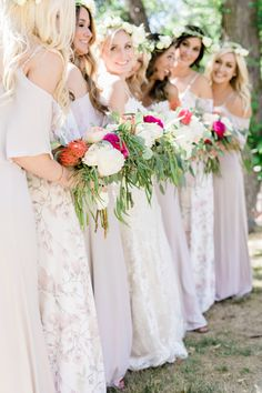 Rustic Eucalyptus Wedding Bouquet for bride and bridesmaids. Click for more ideas: http://www.confettidaydreams.com/rustic-eucalyptus-theme-wedding/