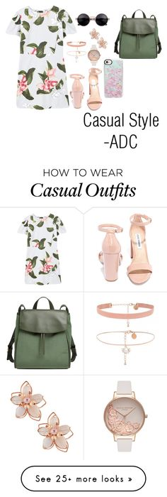 """""""Casual Style"""" by anatiller on Polyvore featuring MANGO, Steve Madden, Skagen, NAKAMOL, Olivia Burton and Casetify"""