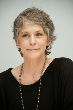 Melissa McBride at 'The Walking Dead' Press Conference at the Four Seasons Hotel on April 20, 2015 in Beverly Hills, California