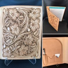Floral front notebook start at $475 #TannerCustomLeather #tannermade #notebook…