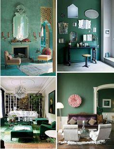 Wandfarben Ideen Wohnzimmer Grün Schöne Wanddeko. Mehr Sehen. 5 Moderne  Interior Farben Für Angenehme Atmosphäre