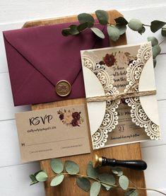Postal fotográfica otoño Personalizado Rústico Boda Invitaciones Paquetes De 10