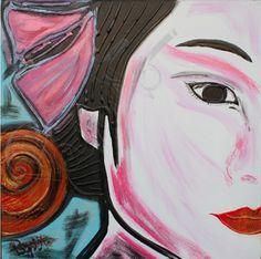 L'ULTIMA GEISHA - 40x40 cm. Acrilc on canvas #GEISHA