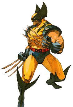 Bone-Claw Wolverine (for Marvel Vs. Capcom 2).  Art by Bengus. ✤ || #Xmen