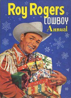 GCD :: Cover :: Roy Rogers Cowboy Annual #9 Christmas Comics, Roy Rogers, Crochet, Cover, Floral, Crochet Crop Top, Florals, Chrochet, Haken