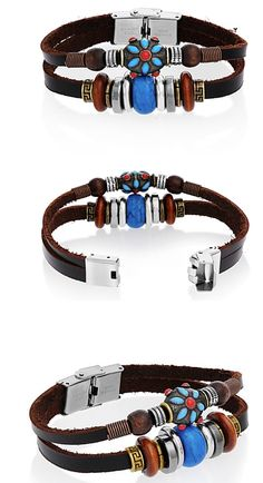 This beautifully beaded bohemian bracelet is a great addition to any outfit. Its bright beautiful tribal beads add a unique yet colorful addition to your wardrobe. Handcrafted with genuine leather, this bracelet features a stainless steel clasp and authentic Tera jewelry.  This bracelet is sure to make a splash!