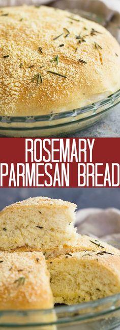 Rosmarin-Parmesan-Brot - Recipes to Cook - Artisan Bread Recipes, Healthy Bread Recipes, Cooking Recipes, Savoury Recipes, Brunch Recipes, Breakfast Recipes, Dinner Recipes, Rosemary Bread Machine Recipe, Bread Machine Recipes