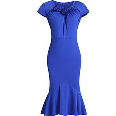 Women's Vintage Sexy Bodycon Party Casual Short Sleeve Dress - USD $ 16.99