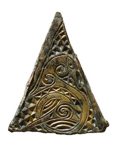 Viking Lead Trade Weight with Gilt-Bronze Insert Panel.  Found County Durham, UK. - 8th c.