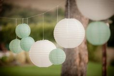 Mixes Size Mint White Paper Lanterns with LED Bulbs for Wedding Decorations Engagement Birthday Party Baby Shower Decorations Engagement Decorations, Wedding Decorations, Fete Emma, Our Wedding, Dream Wedding, Wedding Ceremony, Wedding Season, White Paper Lanterns, Deco Table