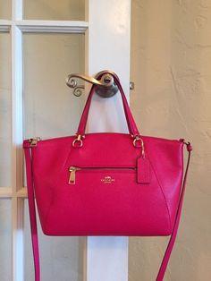 Coach 34340 Prairie Satchel Pebble Leather Pink Ruby NWT Retail $275 #Coach #Satchel