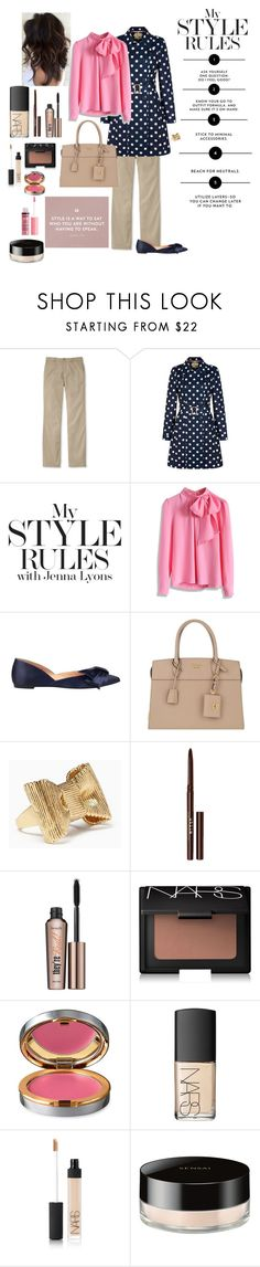 """""""My Style"""" by triplee2017 ❤ liked on Polyvore featuring L.L.Bean, Yumi, Chicwish, Sigerson Morrison, Prada, Kate Spade, Stila, Benefit, NARS Cosmetics and La Prairie"""