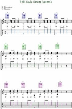 guitar rhythm strum patterns | GUITAR TABS STRUMMING PATTERNS « Free Patterns