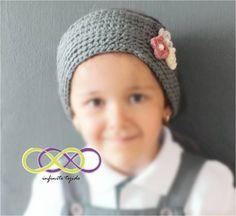 Banda para niña flores de crochet #hechoamano #heandmade #winter #girl