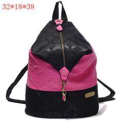 Coach OP Art Travel Backpack Black Pink