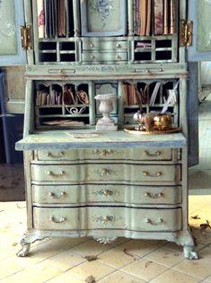 Pistachio Ladies Desk by MaritzaMiniatures on Etsy