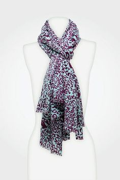 Kenley Scarf in Snow Leopard Plum, Fall 2012: Rendez-vous
