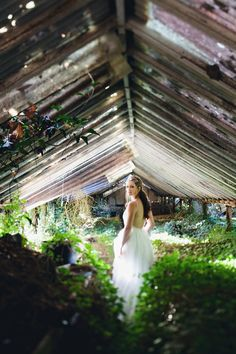 Ruffled - photo by http://www.loveflorafauna.com/ - http://ruffledblog.com/abandoned-greenhouse-wedding/