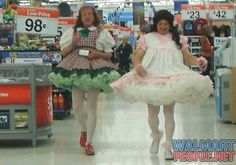 Adults Dressed Up At Walmart
