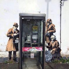 Street Art, Cheltenham, 2014 - by Banksy