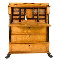 Biedermeier Secretarie | From a unique collection of antique and modern secretaires at https://www.1stdibs.com/furniture/storage-case-pieces/secretaires/